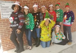 Bradford County School District Employees Show Some Holiday Spirit